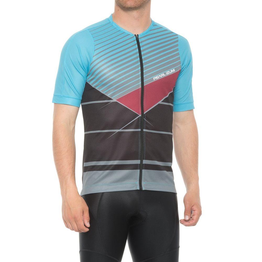 パールイズミ メンズ 自転車 トップス【MTB LTD Cycling Jersey - Full Zip, Short Sleeve】Blue Mist/Smoked Pearl Stripe