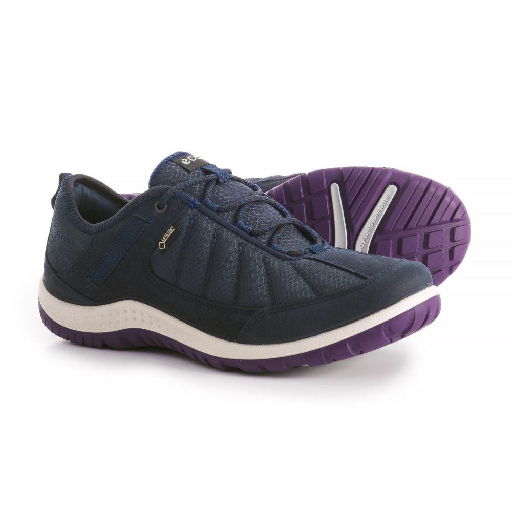 エコー レディース ハイキング・登山 シューズ・靴【Aspina Textile Gore-Tex Hiking Shoes - Waterproof】Navy/True Navy