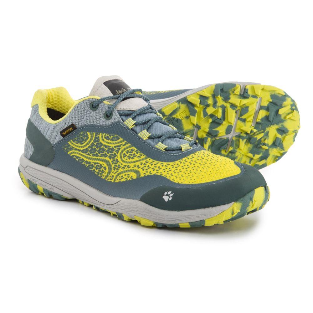 ジャックウルフスキン レディース ランニング・ウォーキング シューズ・靴【Crosstrail Texapore Low Trail Running Shoes - Waterproof】Bright Absinth