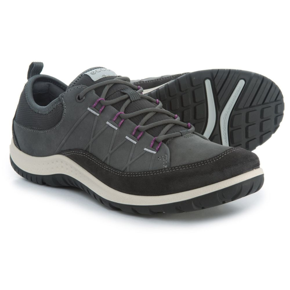 エコー レディース ハイキング・登山 シューズ・靴【Aspina Hiking Shoes - Nubuck】Moonless/Dark Shadow