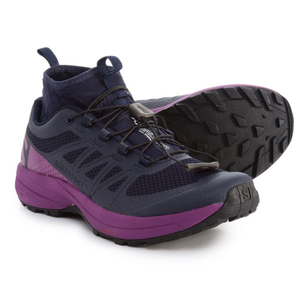サロモン レディース ランニング・ウォーキング シューズ・靴【XA Enduro Trail Running Shoes】Evening Blue/Grape Juice/Black