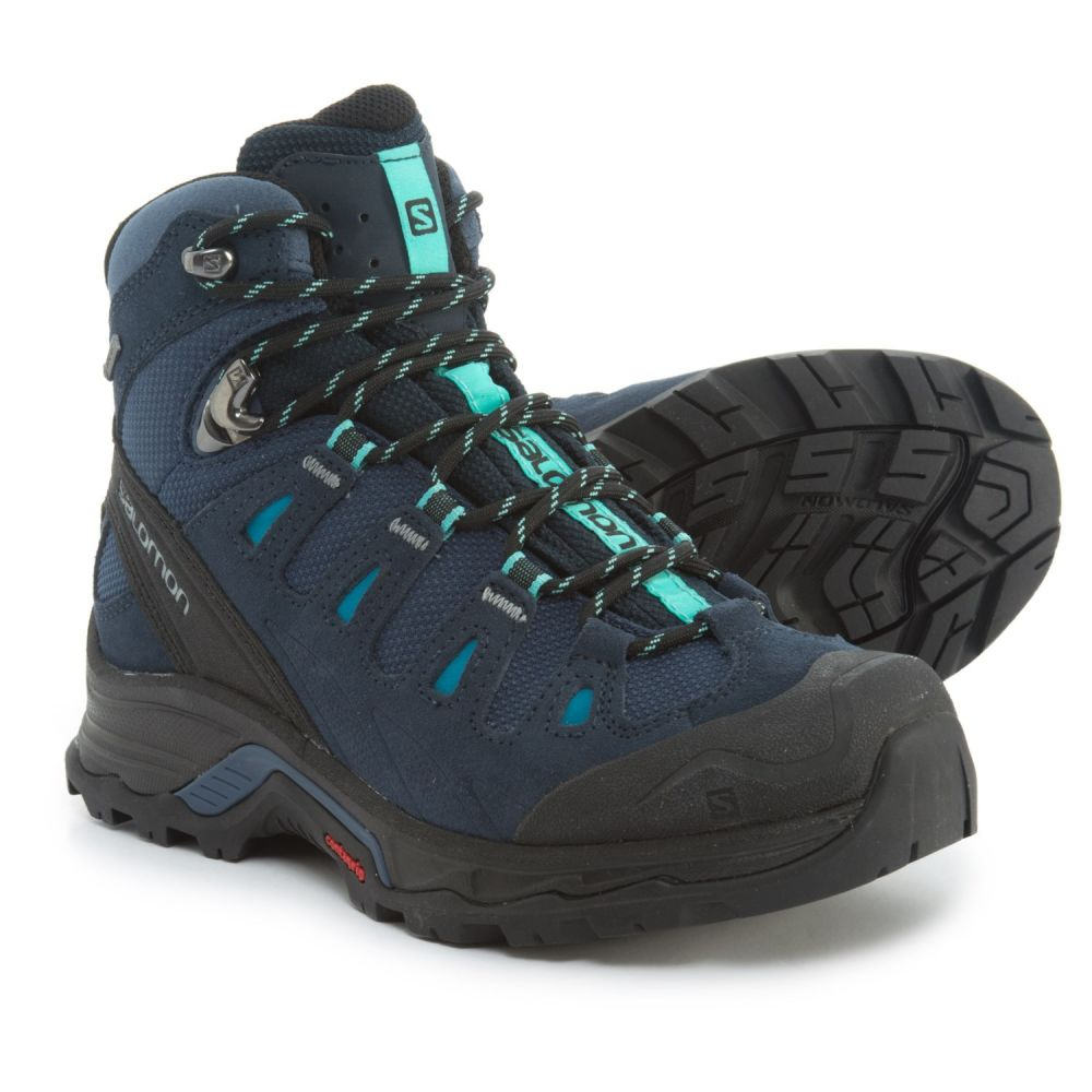 サロモン レディース ハイキング・登山 シューズ・靴【Quest Prime Gore-Tex Hiking Boots - Waterproof, Suede】Slateblue/Deep Blue/Bubble Blue