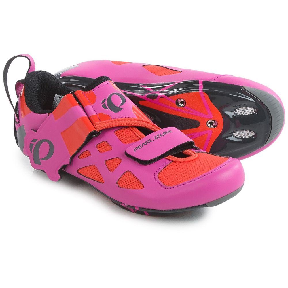 パールイズミ レディース 自転車 シューズ・靴【Tri Fly V Carbon Triathlon Cycling Shoes - 3-Hole】Hot Pink/Black