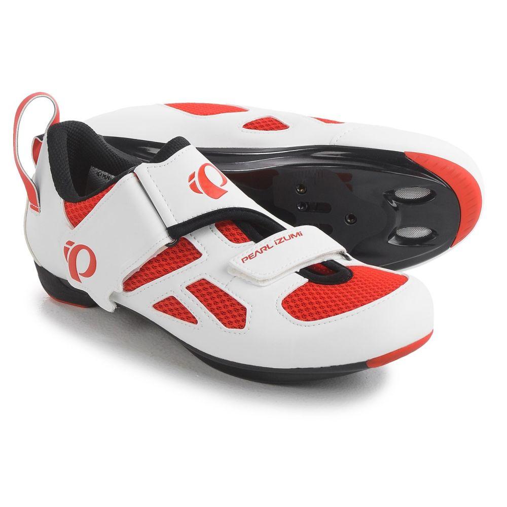 自転車 シューズ・靴【Tri Red パールイズミ 3-Hole】Mandarin - Triathlon レディース Shoes Cycling SPD, Fly V