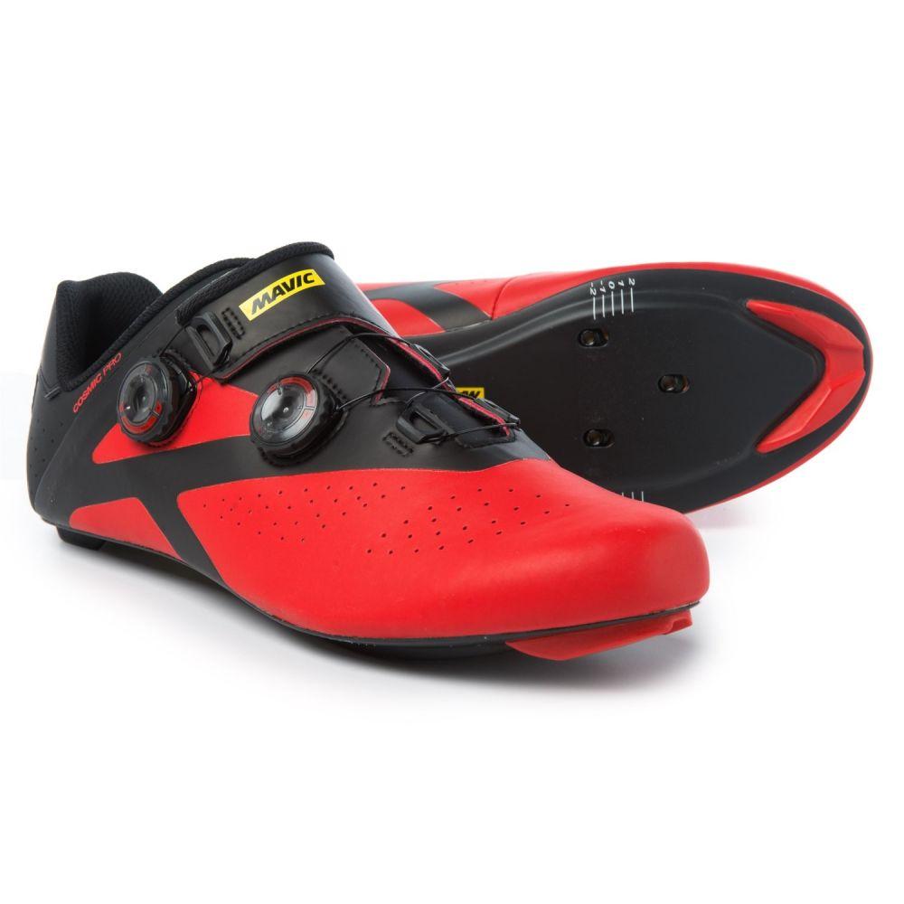 マヴィック レディース 自転車 シューズ・靴【Cosmic Pro Road Cycling Shoes - 3-Hole】Black/Fiery Red/Black