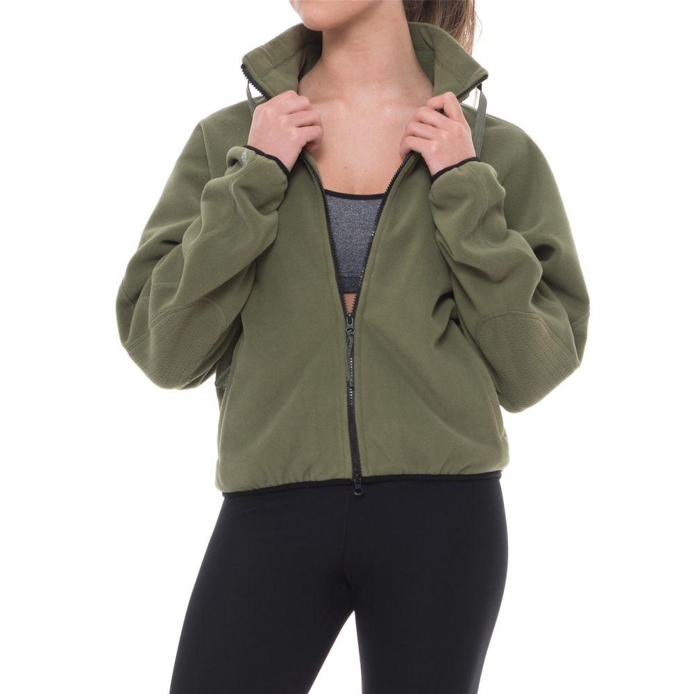 フリーピープル レディース ヨガ・ピラティス トップス【Higher Ground Fleece Jacket】Soft Army