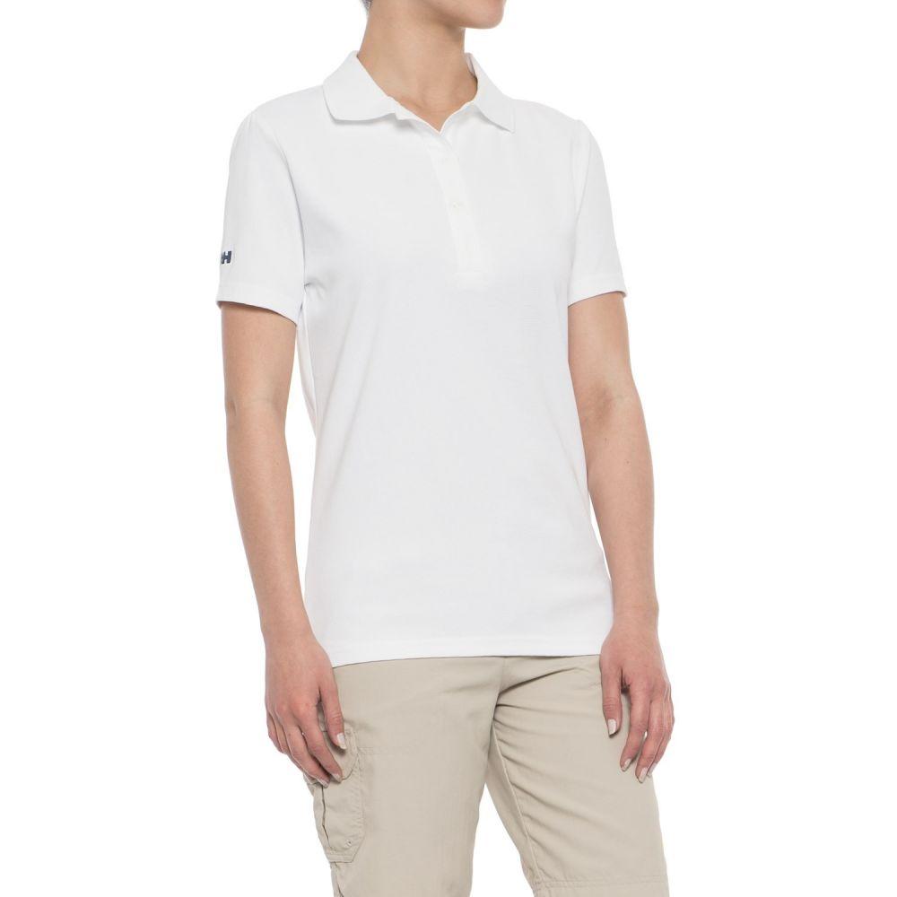 ヘリーハンセン レディース ハイキング・登山 トップス【Dove Polo Shirt - Short Sleeve】White