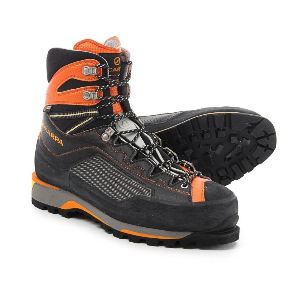 スカルパ Scarpa メンズ ハイキング・登山 シューズ・靴【Rebel Pro Gore-Tex Mountaineering Boots - Waterproof, Insulated】Black/Orange