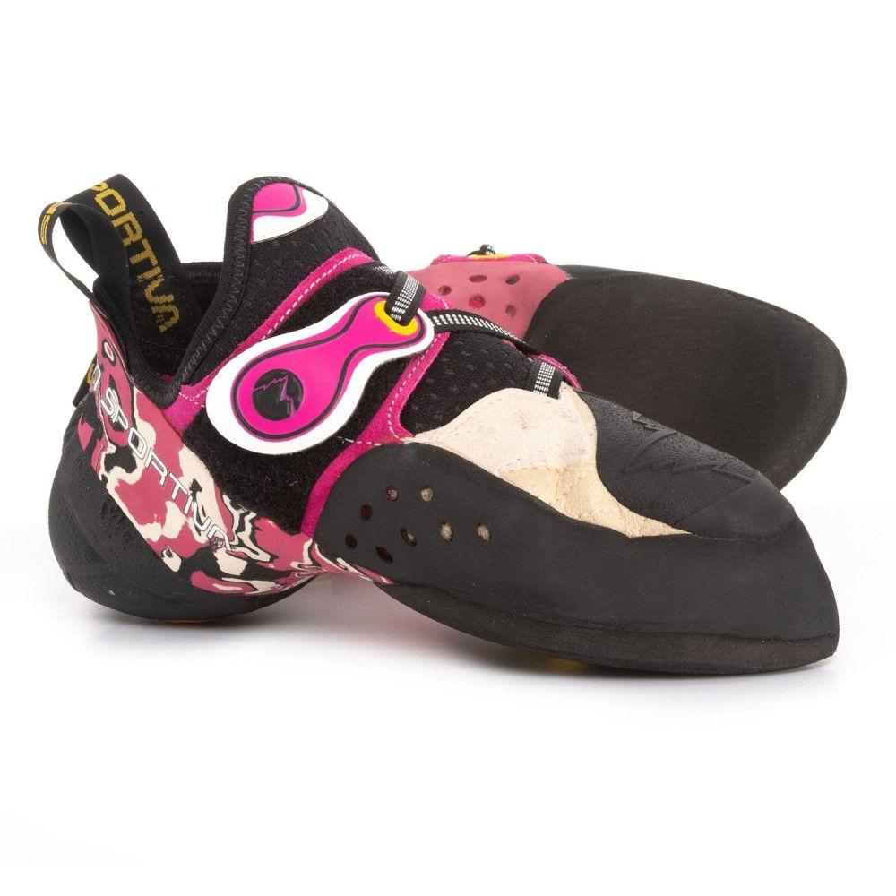 ラスポルティバ La Sportiva レディース クライミング シューズ・靴【Made in Italy Solution Climbing Shoes】White/Pink
