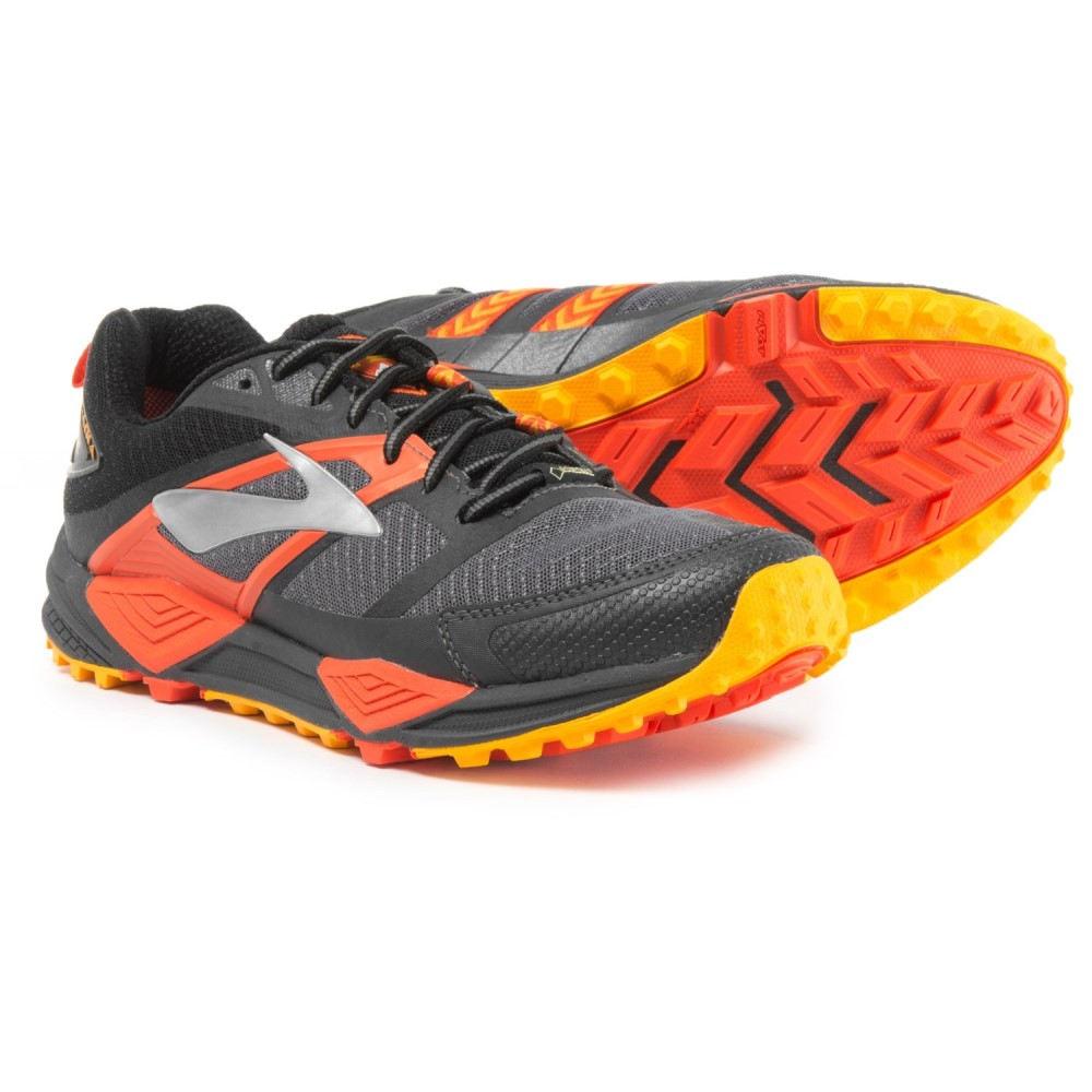 ブルックス Brooks メンズ ランニング・ウォーキング シューズ・靴【Cascadia 12 Gore-Tex Trail Running Shoes - Waterproof】Black/Ebony/Cherry Tomato