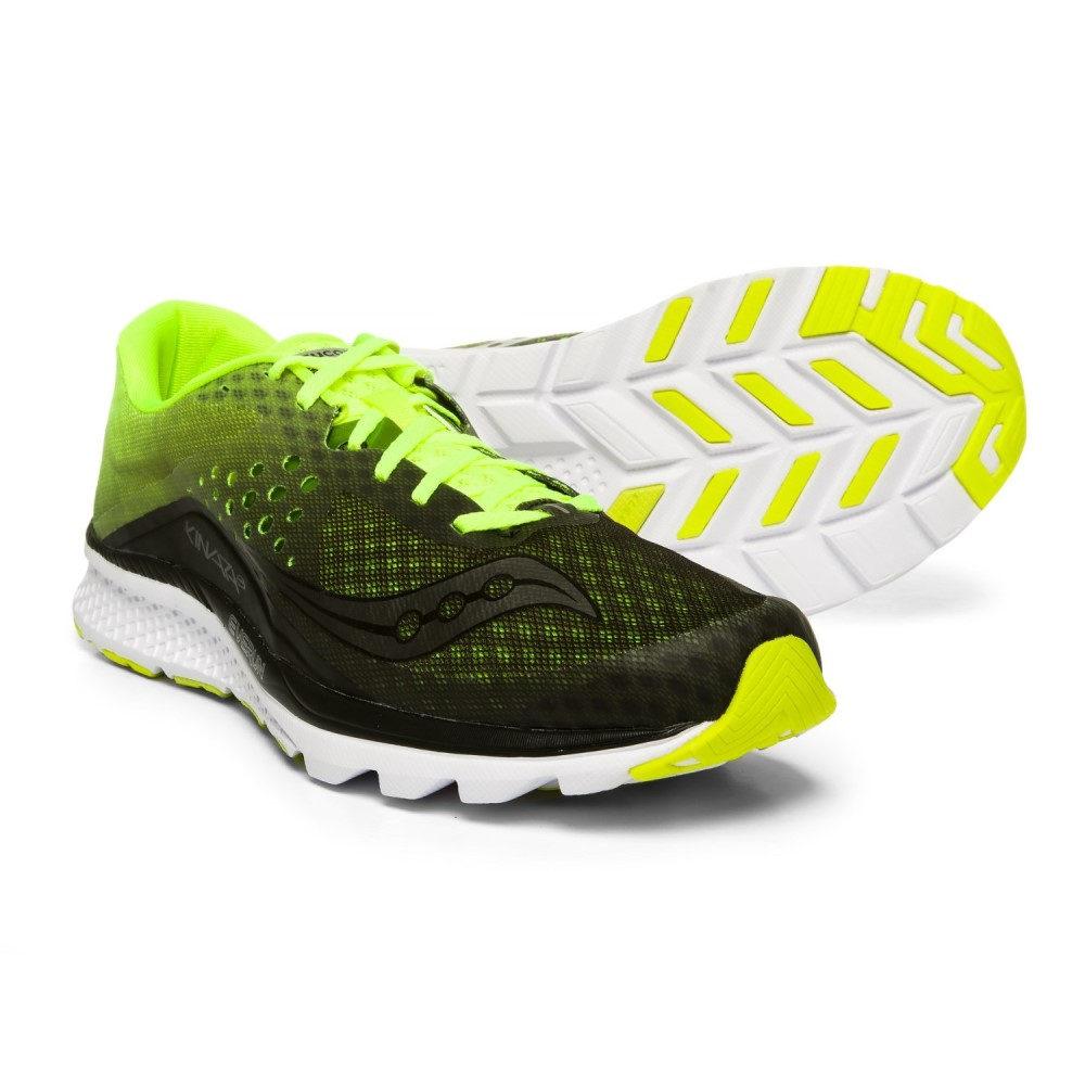 サッカニー Saucony メンズ ランニング・ウォーキング シューズ・靴【Kinvara 8 Running Shoes】Black/Citron