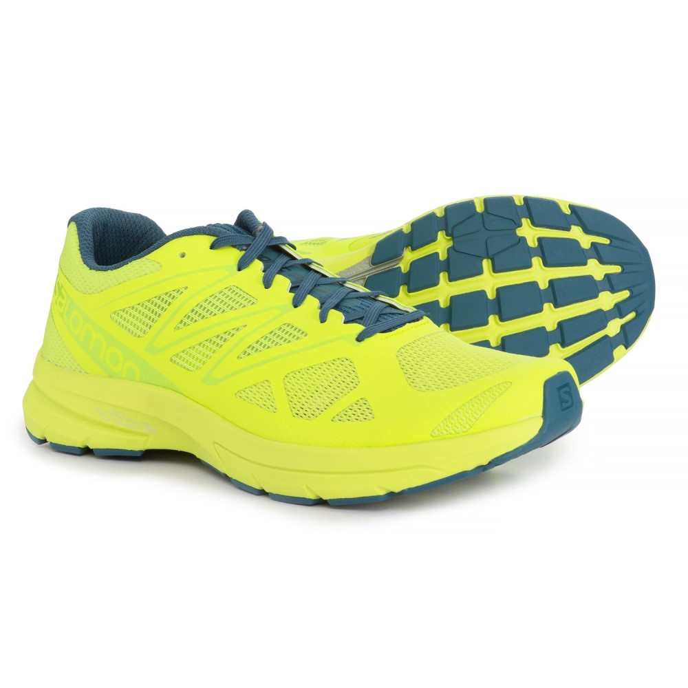 サロモン Salomon メンズ ランニング・ウォーキング シューズ・靴【Sonic Pro 2 Running Shoes】Lime Punch/Mallard Blue/Lime Green