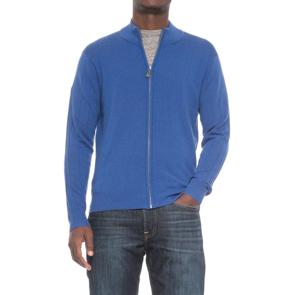 テーラーバード TailorByrd メンズ トップス カーディガン【Tailorbyrd Drop-Needle Cardigan Sweater - Wool, Zip Front】Royal