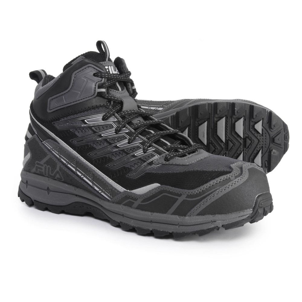 フィラ Fila メンズ ランニング・ウォーキング シューズ・靴【Hail Storm 3 Mid CT Trail Running Shoes】Castlerock/Black/Metallic Silver