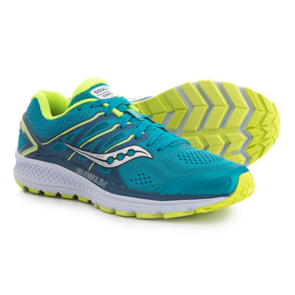 サッカニー Saucony レディース ランニング・ウォーキング シューズ・靴【Omni 16 Running Shoes】Teal/Citron