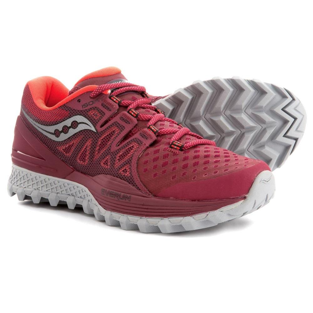 サッカニー Saucony レディース ランニング・ウォーキング シューズ・靴【Xodus ISO 2 Trail Running Shoes】Berry/Coral