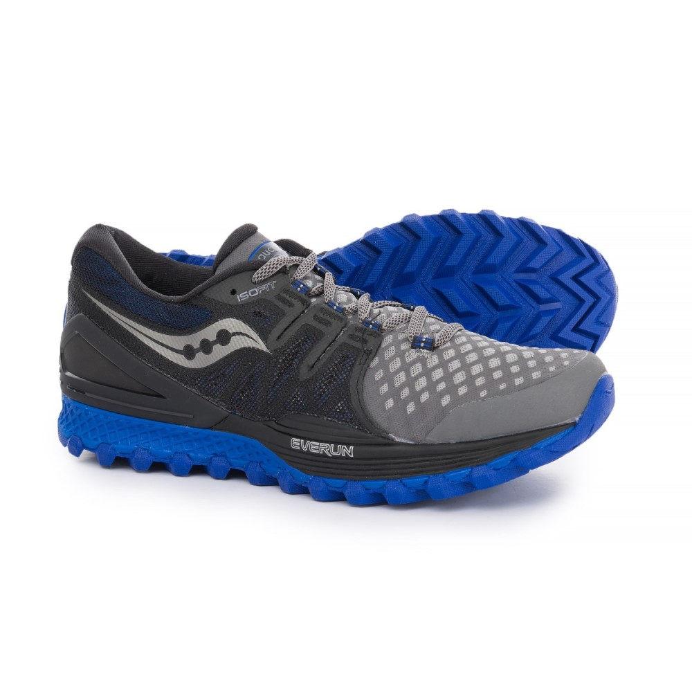 最安値に挑戦! サッカニー Saucony Saucony メンズ ランニング・ウォーキング ISO シューズ・靴【Xodus ISO Running 2 Trail Running Shoes】Grey/Black/Blue, オンラインプラザ:910df579 --- business.personalco5.dominiotemporario.com
