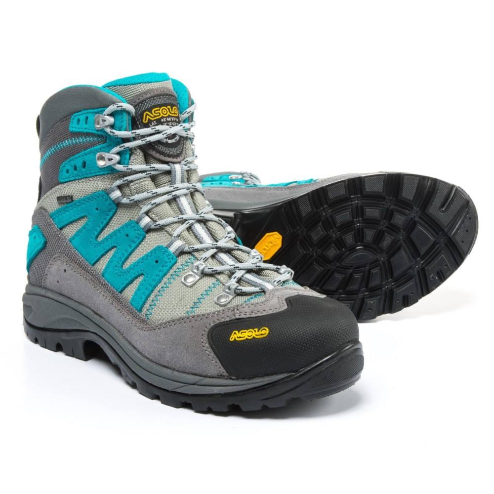 アゾロ Asolo レディース ハイキング・登山 シューズ・靴【Neutron Gore-Tex Hiking Boots - Waterproof, Suede】Donkey/Blue Pavone