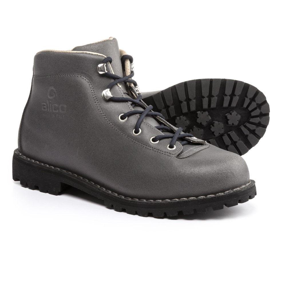 アリコ Alico メンズ ハイキング・登山 シューズ・靴【Made in Italy Belluno Hiking Boots - Leather】Dark Grey Waxed Split Leather