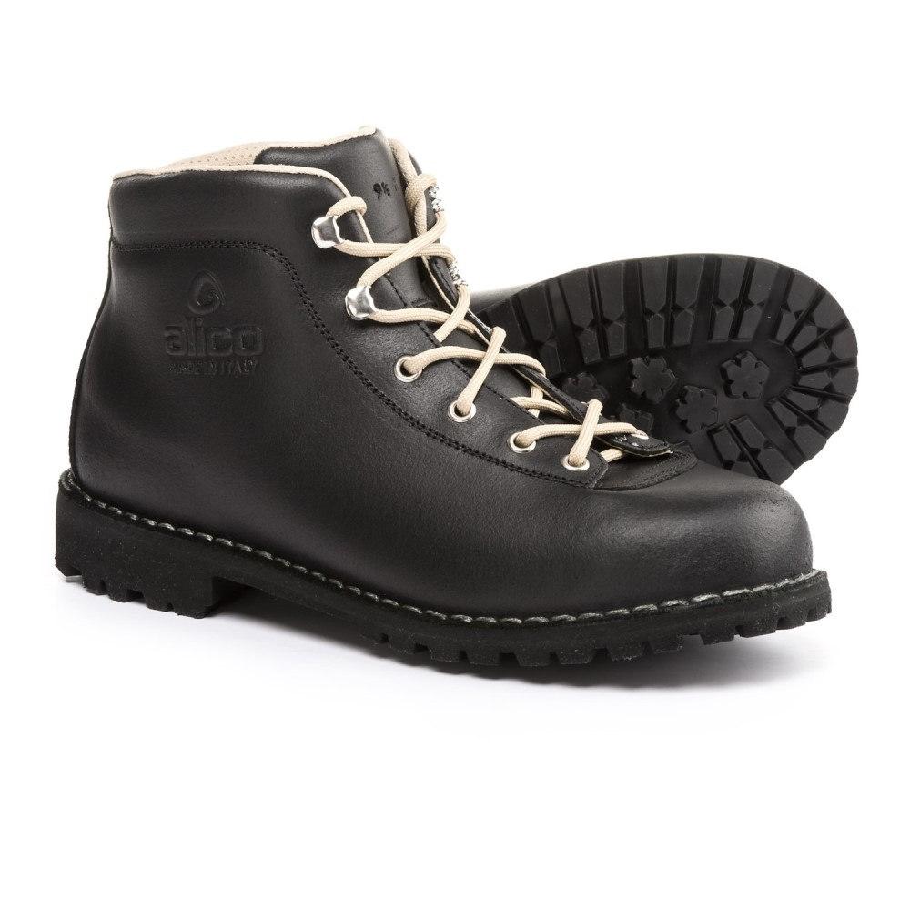 アリコ Alico メンズ ハイキング・登山 シューズ・靴【Made in Italy Belluno Hiking Boots - Leather】Black Waxed Split Leather