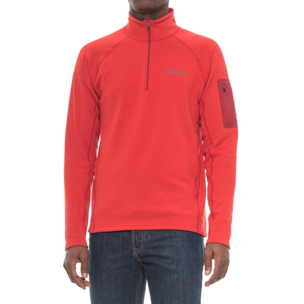 マーモット Marmot メンズ トップス フリース【Stretch Fleece Shirt - Zip Neck, Long Sleeve】Team Red