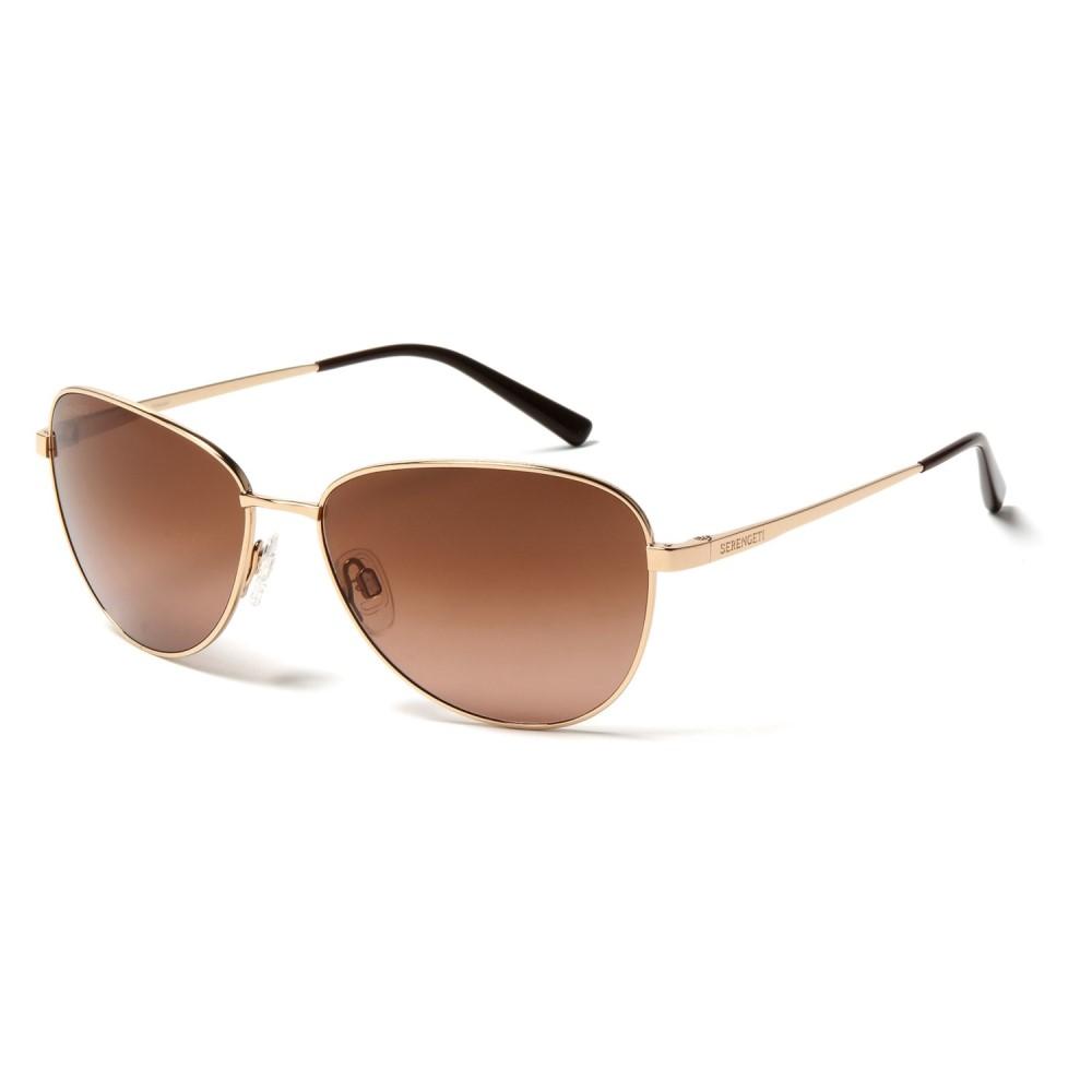 ブッシュネル Serengeti レディース メガネ・サングラス【Gloria Sunglasses - Polarized, Photochromic Glass Lenses】Shiny Bold Gold/Gradient