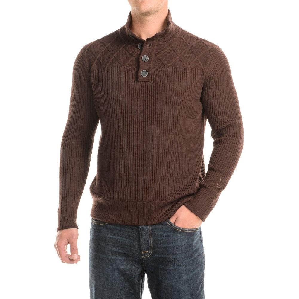 アイベックス Ibex メンズ トップス ニット・セーター【Mountain Sweater - Merino Wool, Button Neck】Archer Heather