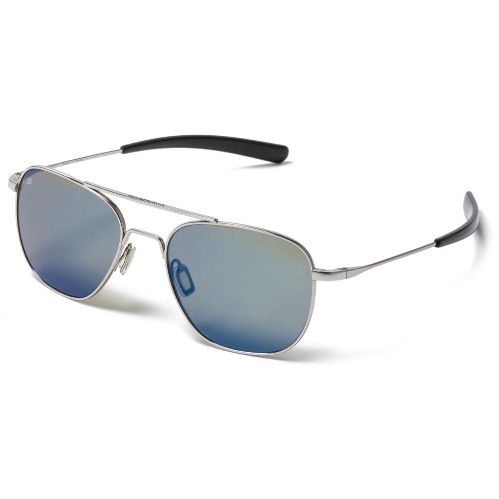 ブッシュネル Serengeti レディース メガネ・サングラス【Sortie Sunglasses - Polarized, Photochromic】Shiny Silver/555Nm Blue Mirror
