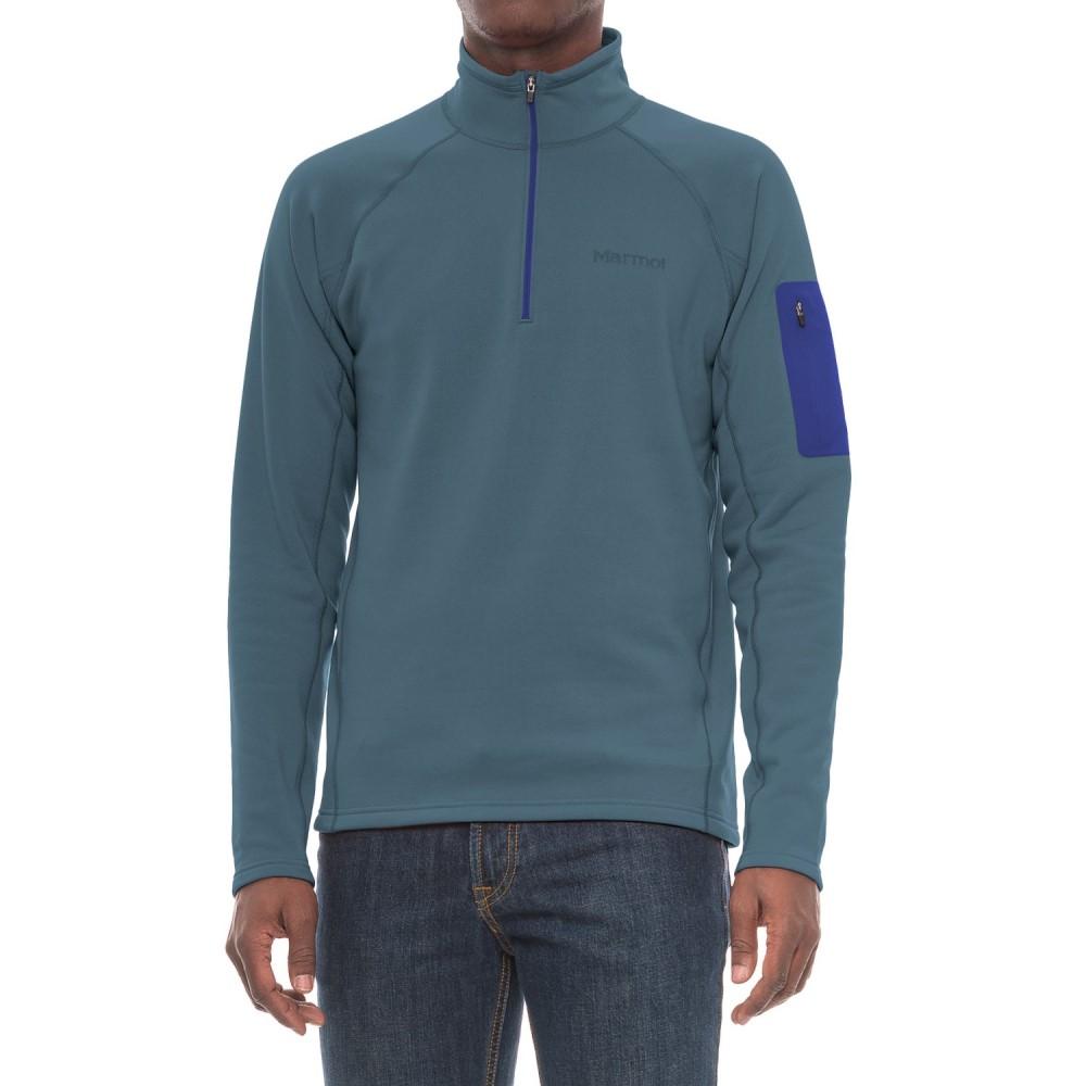 マーモット Marmot メンズ トップス フリース【Stretch Fleece Shirt - Zip Neck, Long Sleeve】Storm Cloud