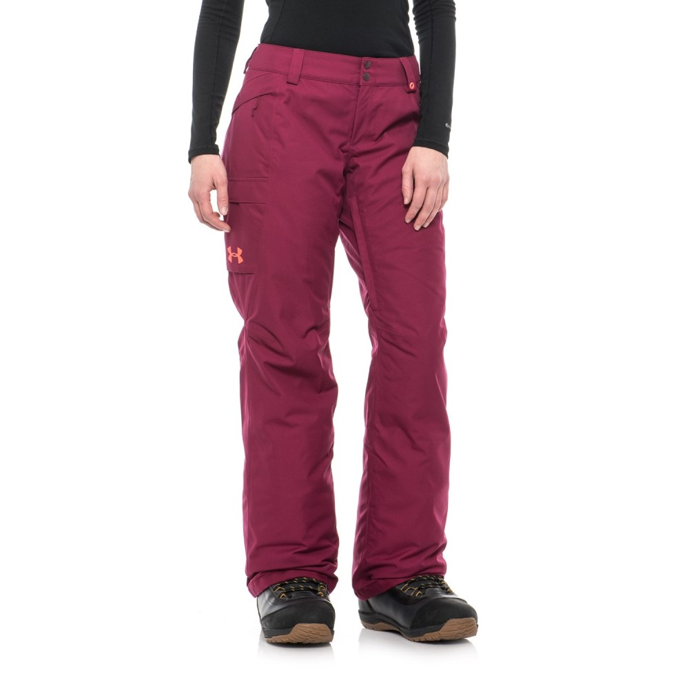 アンダーアーマー Under Armour レディース スキー・スノーボード ボトムス・パンツ【ColdGear Infrared Chutes Ski Pants - Waterproof, Insulated】Black Currant