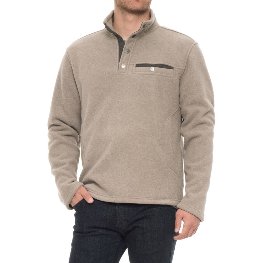 ホワイトシエラ White Sierra メンズ トップス フリース【Sherpa Fleece Sweatshirt - Snap Placket】Rock Ridge