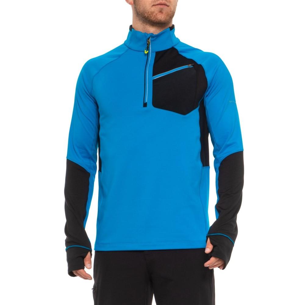 オバマイヤー Obermeyer メンズ トップス フリース【Flight Sport Fleece Shirt - Zip Neck, Long Sleeve】Stellar Blue