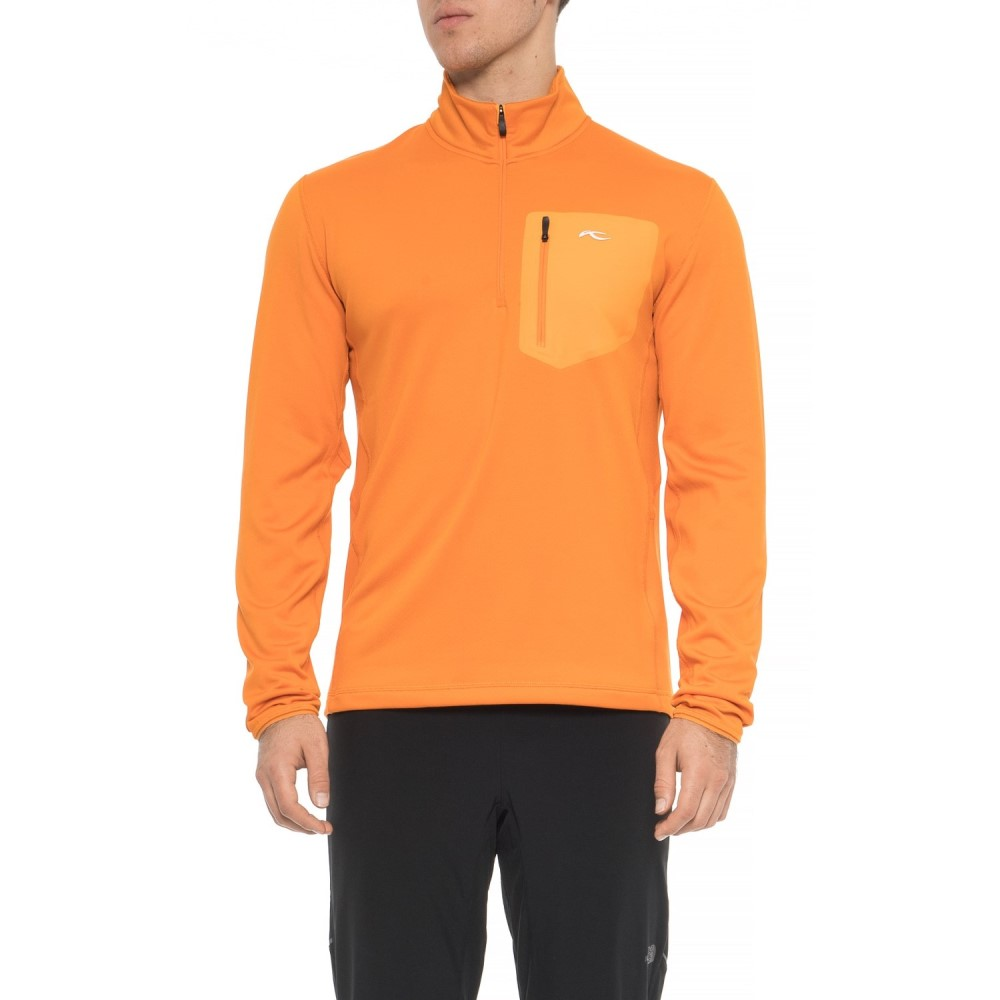チュース KJUS メンズ トップス フリース【Hydraulic Fleece Shirt - Zip Neck, Long Sleeve】Orange Pepper