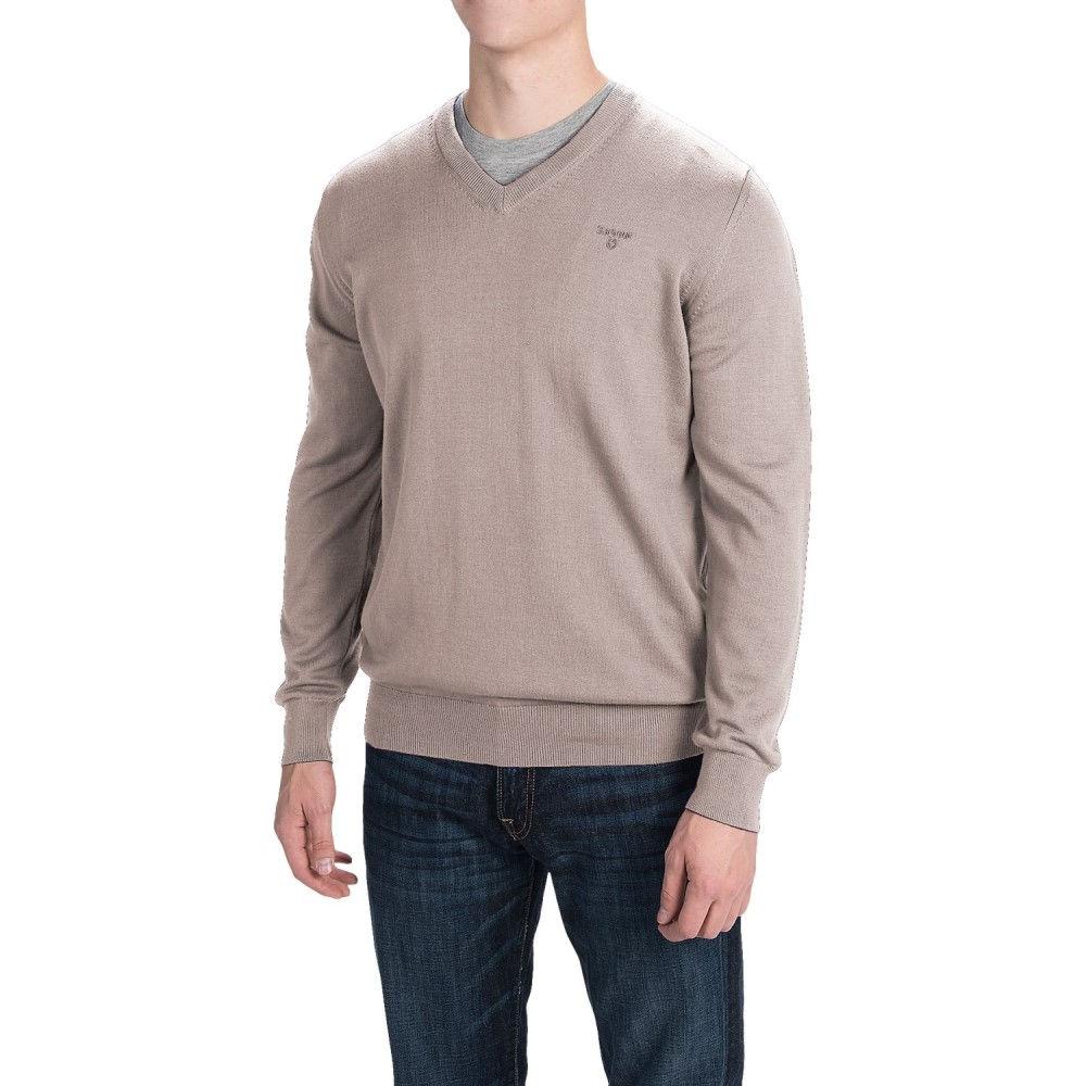 バーブァー Barbour メンズ トップス ニット・セーター【Pima Cotton Sweater - V-Neck】Sand Marl
