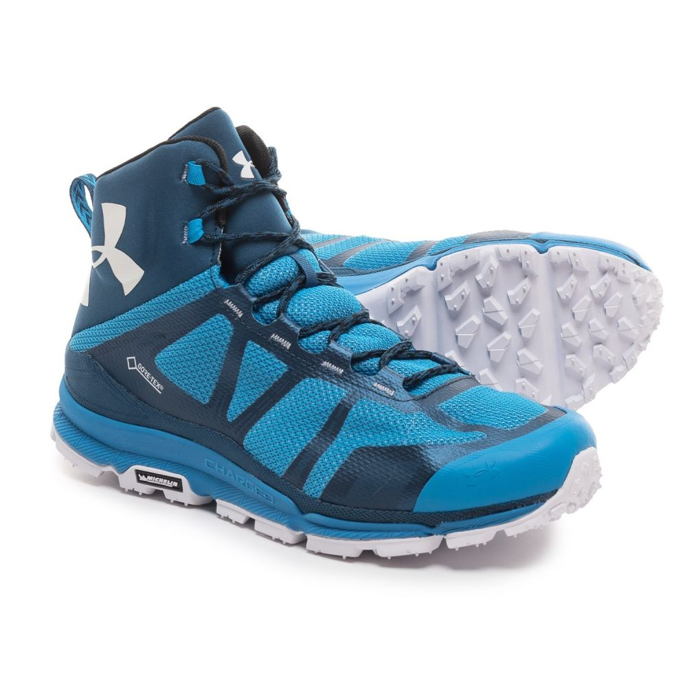 アンダーアーマー Under Armour メンズ ハイキング・登山 シューズ・靴【Verge Mid Gore-Tex Hiking Boots - Waterproof】Blue Jet/Deep Sea