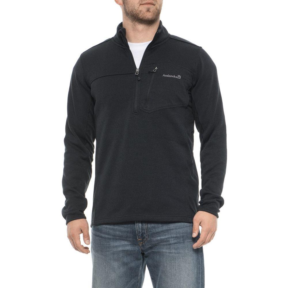 アヴァランチ Avalanche メンズ トップス ニット・セーター【Baxter Sweater - Zip Neck】Pirate Black