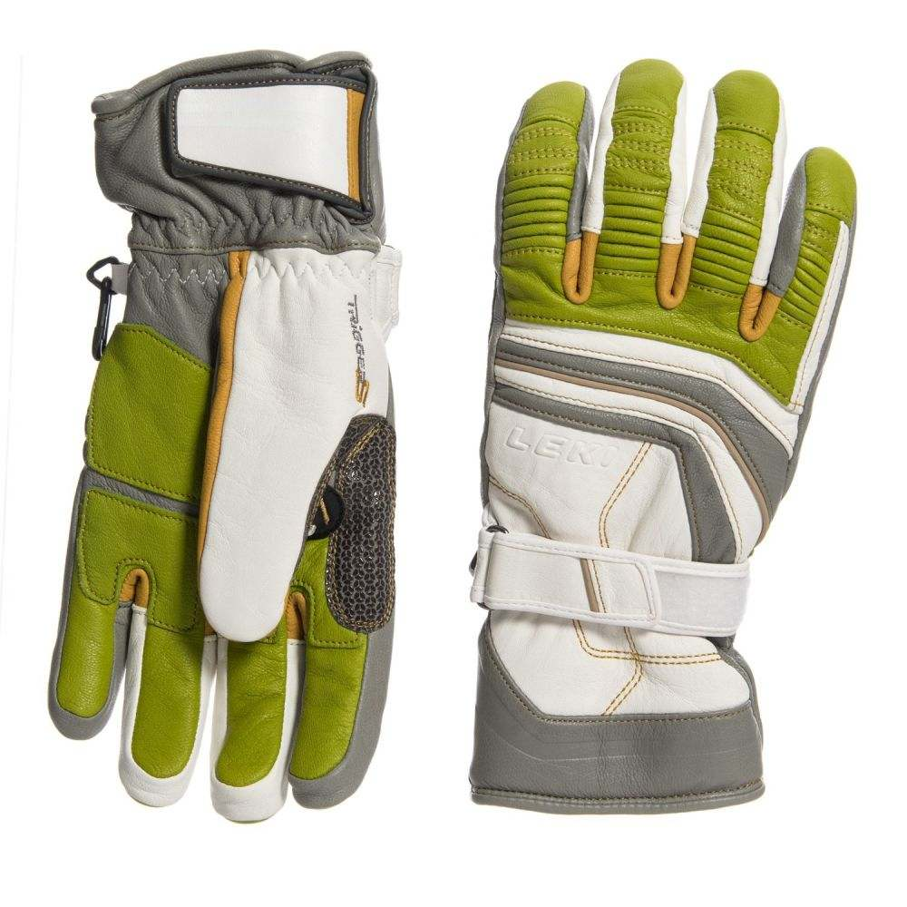 レキ LEKI メンズ スキー・スノーボード グローブ【Fuse Retro S PrimaLoft Skiing Gloves - Insulated】White/Tan/Limee