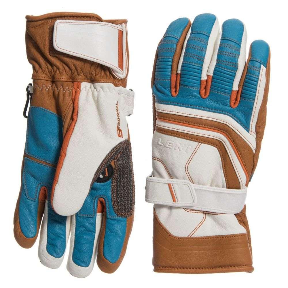 レキ LEKI メンズ スキー・スノーボード グローブ【Fuse Retro S PrimaLoft Skiing Gloves - Insulated】White/Tan/Blue