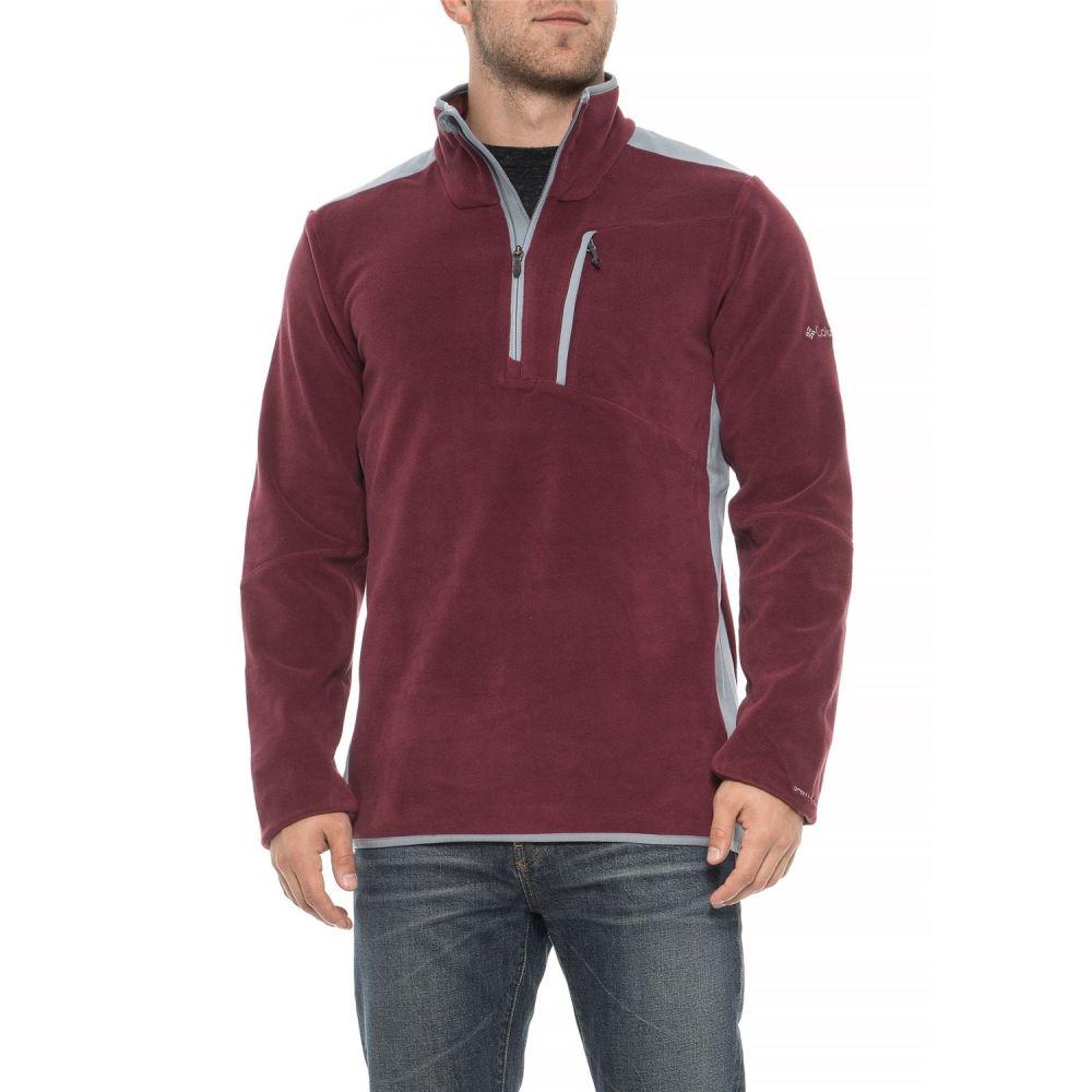 コロンビア Columbia Sportswear メンズ トップス フリース【Crosslight II Omni-Heat Fleece Jacket - Zip Neck】Maroon