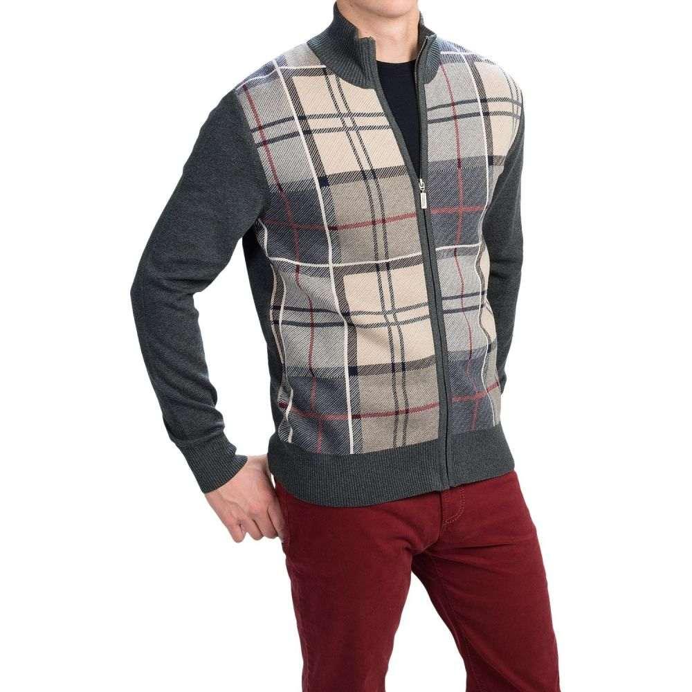 バーブァー Barbour メンズ トップス カーディガン【Downfield Zip Cardigan Sweater】Charcoal