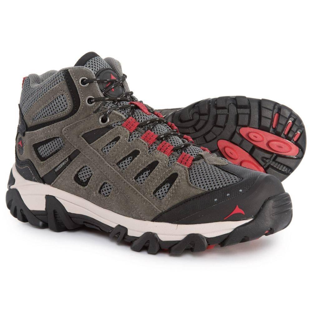 パシフィックマウンテン Pacific Mountain メンズ ハイキング・登山 シューズ・靴【Berkeley Mid Hiking Boots - Waterproof】Gunmetal/Chili Pepper