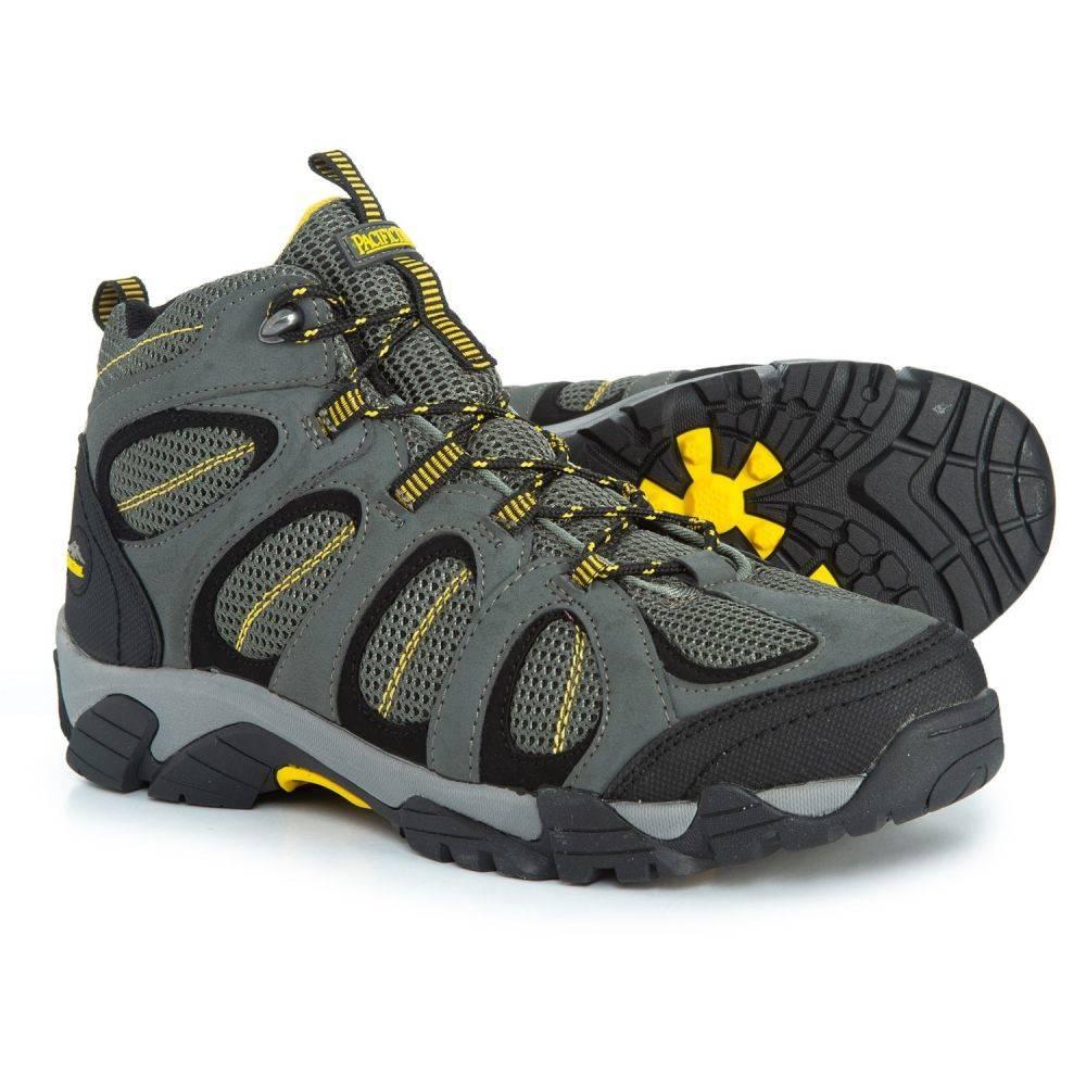 パシフィックトレイル Pacific Trail メンズ ハイキング・登山 シューズ・靴【Windom Hiking Boots】Gray/Yellow