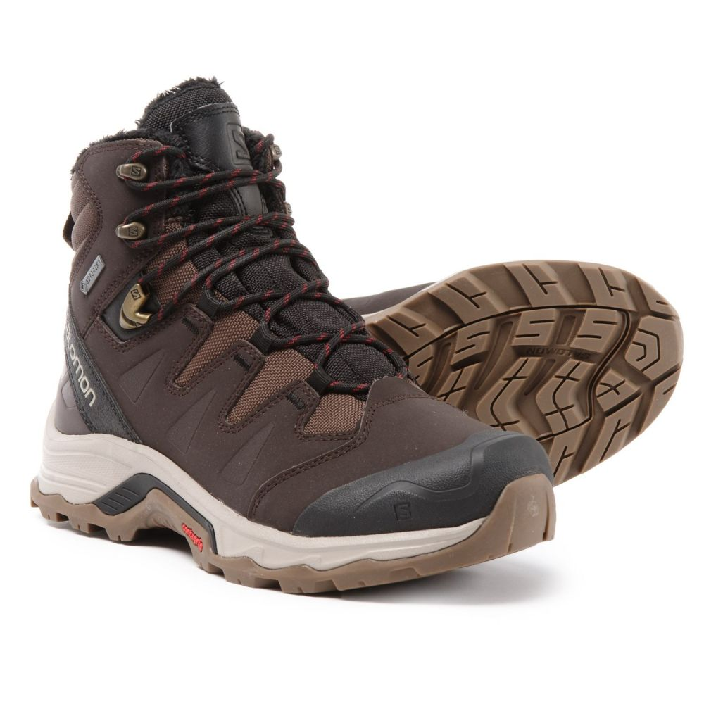 『4年保証』 サロモン Salomon メンズ ハイキング・登山 シューズ・靴【Quest Winter Gore-Tex Hiking Boots - Waterproof, Insulated】Black Coffee/Black/Red, カーピカル JAPAN NET 事業部 0bf4e2da