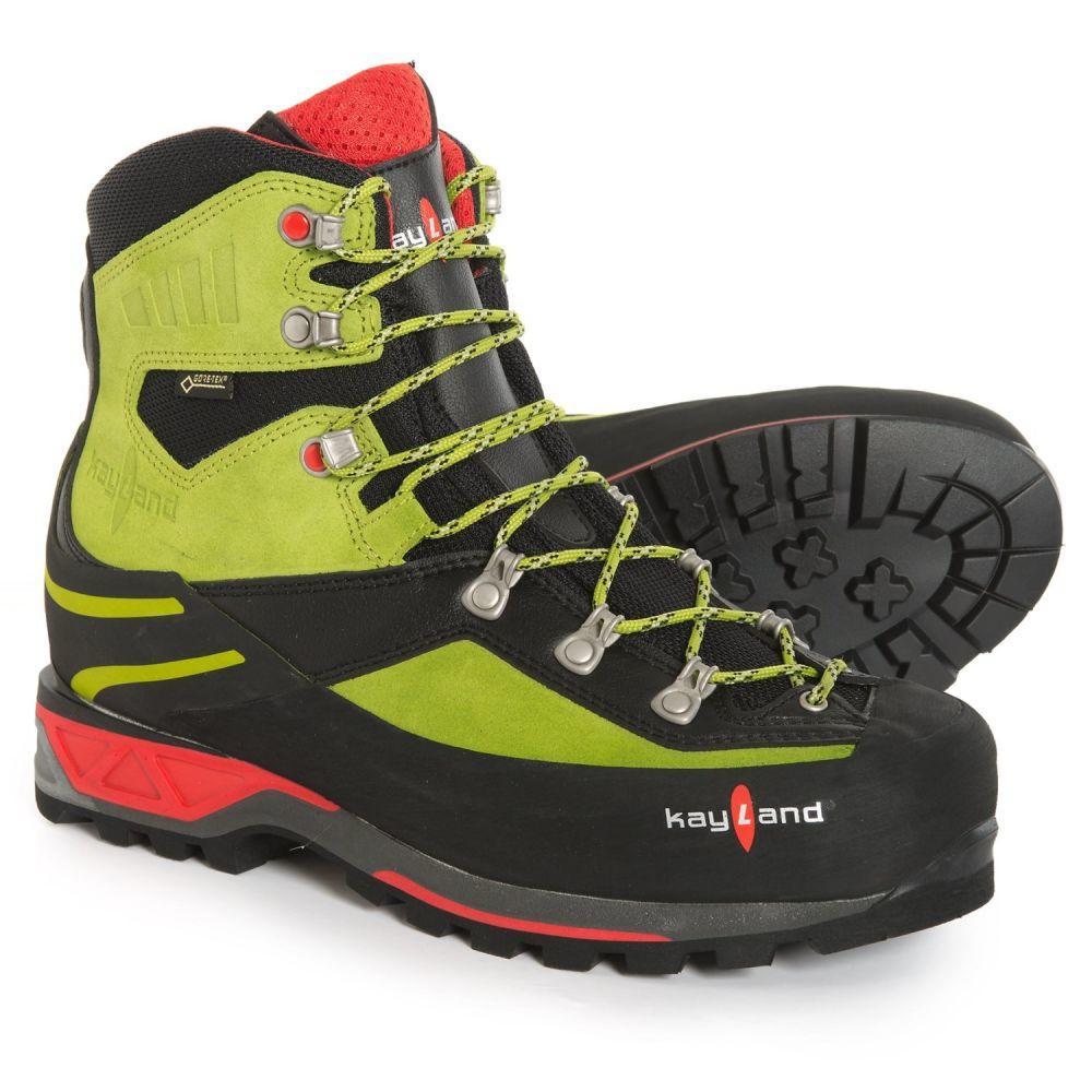 ケイランド Kayland メンズ ハイキング・登山 シューズ・靴【Apex Rock Gore-Tex Mountaineering Boots - Waterproof】Black/Lime
