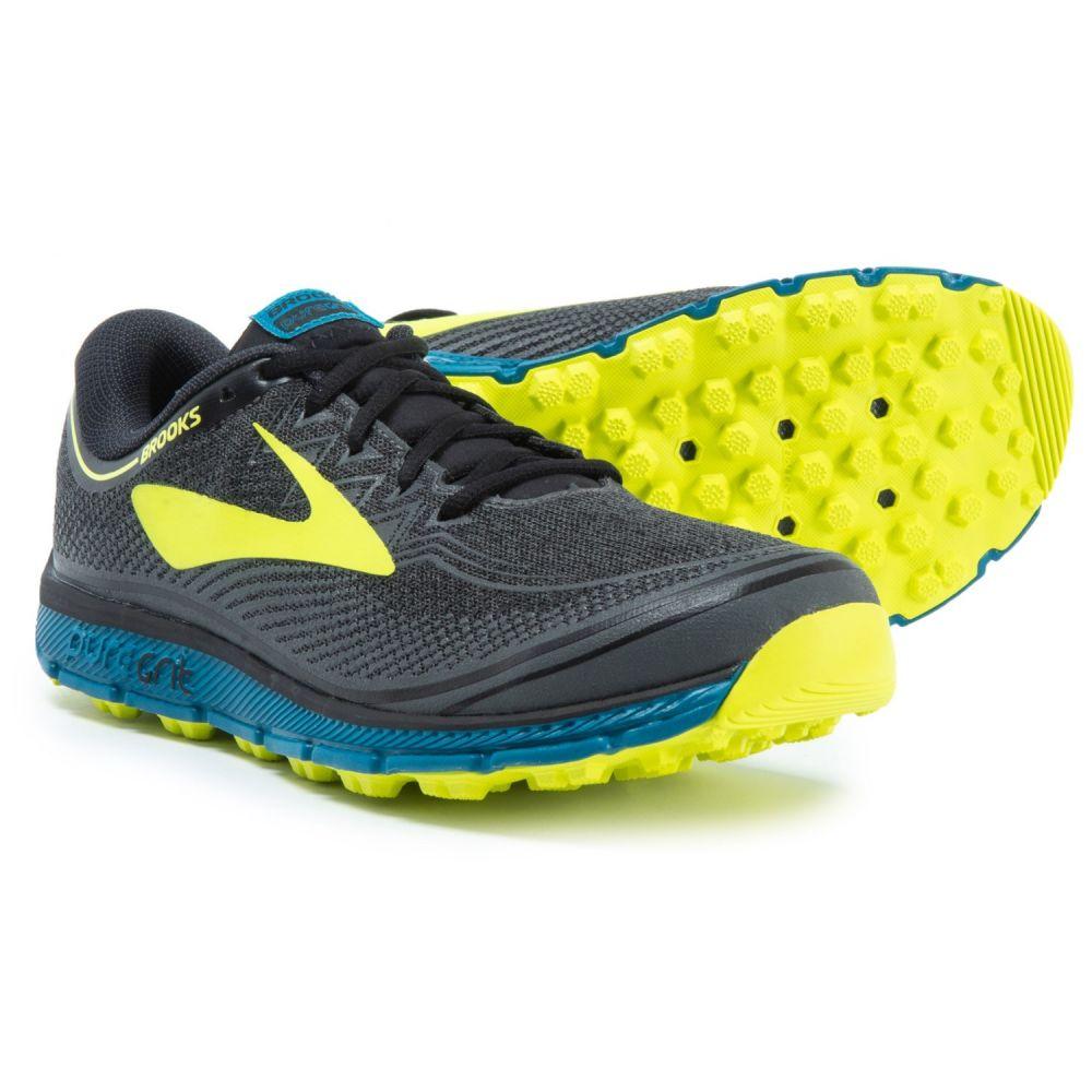 ブルックス Brooks メンズ ランニング・ウォーキング シューズ・靴【PureGrit 6 Trail Running Shoes】Black/Turkish Tile/Nightlife