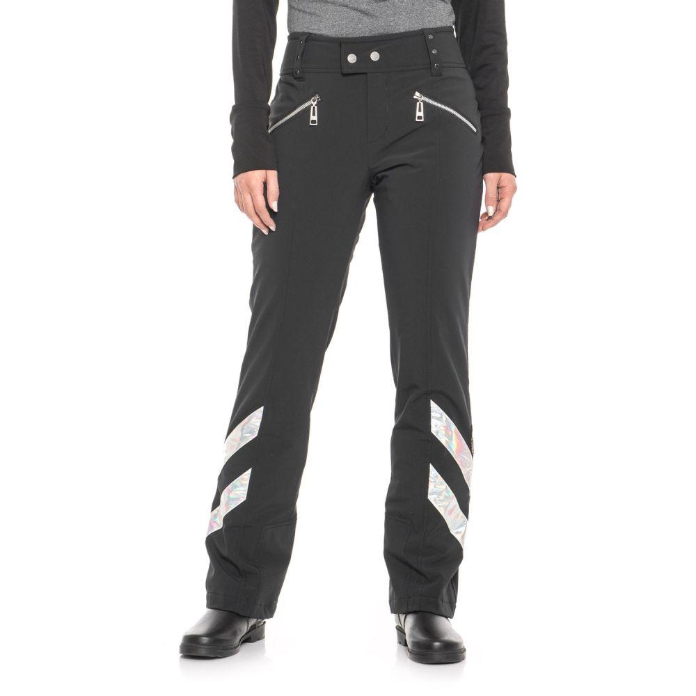 スケア Skea レディース スキー・スノーボード ボトムス・パンツ【Kira Stretch Ski Pants - Waterproof, Insulated】Black With Hologram Chevrons
