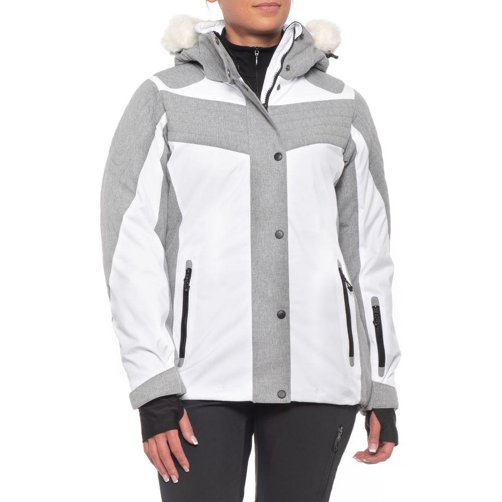 アヴァランチ Avalanche レディース スキー・スノーボード アウター【Ski Jacket - Waterproof, Insulated】White/Heather Grey