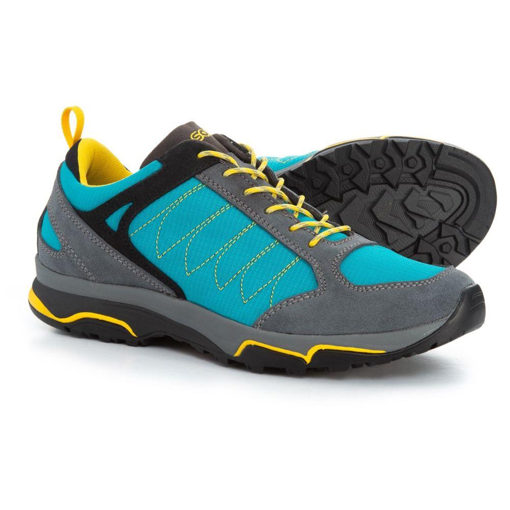アゾロ Asolo レディース ハイキング・登山 シューズ・靴【Sword Hiking Shoes】Grey/Cyan Blue