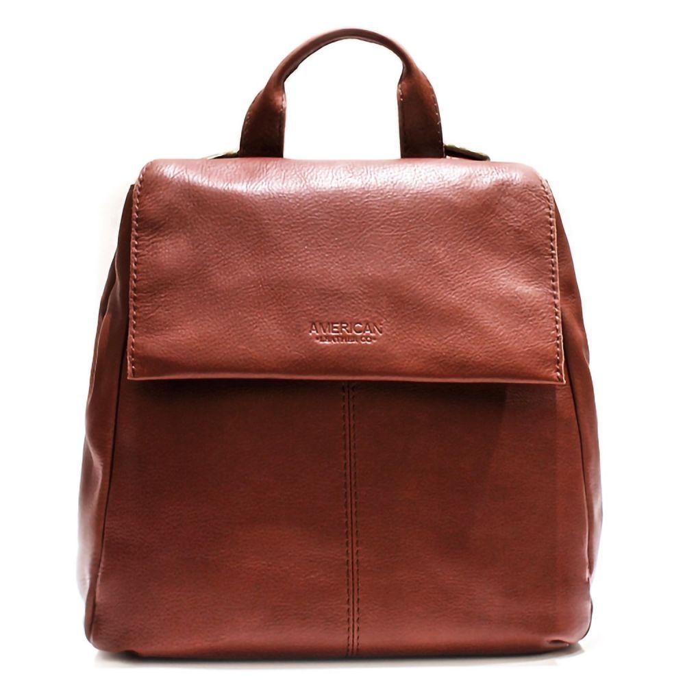 アメリカン レザー American Leather Co. レディース バッグ バックパック・リュック【Alexandria Flap Backpack - Leather】Brandy