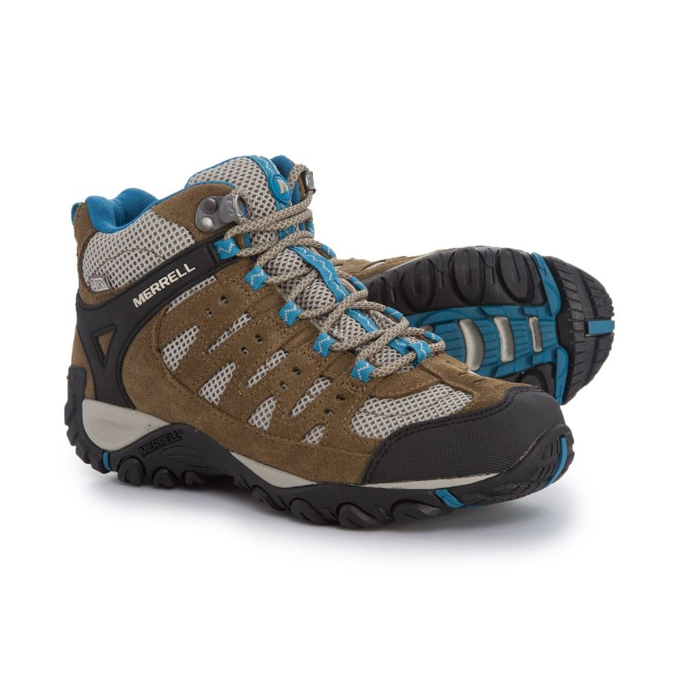 メレル Merrell レディース ハイキング・登山 シューズ・靴【Accentor Mid Vent Hiking Boots - Waterproof】Kangaroo/Celestia